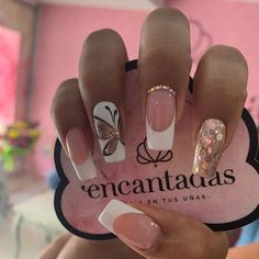 Classy Nails, Stylish Nails, Cute Nails, Pretty Nails, My Nails, French Manicure Nail Designs, French Nails, Nail Manicure, French Manicures