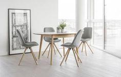 Home Kendal Extensible en Bois Table /& 2 Chaises-deux tons