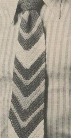 Ripple Tie Vintage Crochet