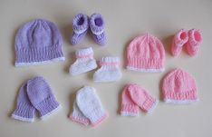 Ravelry: marianna-mel's Marianna's Premature Baby Hat, Mittens & Booties