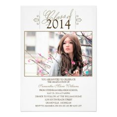 Elegant Photo Graduation Party Invitations