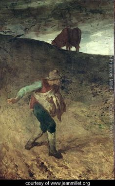 The Sower, 1847-48 - Jean-Francois Millet - www.jeanmillet.org