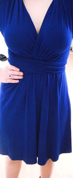 royal blue v-neck dress....my mom would love this