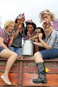 Bachelorette party dresscode idea! Country Style #idea #bachelorettes #party #outfits #covboy
