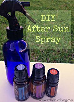 DIY After Sun Spray #essential oils #doTerra