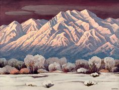 Emil James Bisttram 1961 (American, 1895-1976). Sacred Mountain