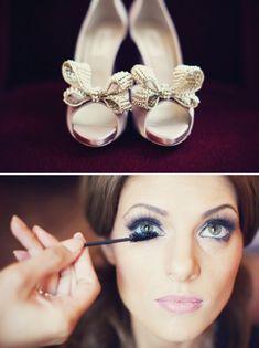 Beautiful makeup & adorable heels