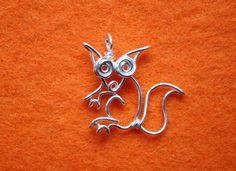 Wire Sqirrel Pendant Silver plated copper squirrel от mohicanroads
