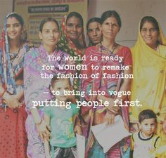 Forbes article on the importance of women in the future of ethical fashion. The world is ready for women to remake the fashion of fashion. #peoplefirst