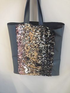 Homemade Bag  paillettes/leather  Fashion design  Degradè 4 fabrizia monteleone :)