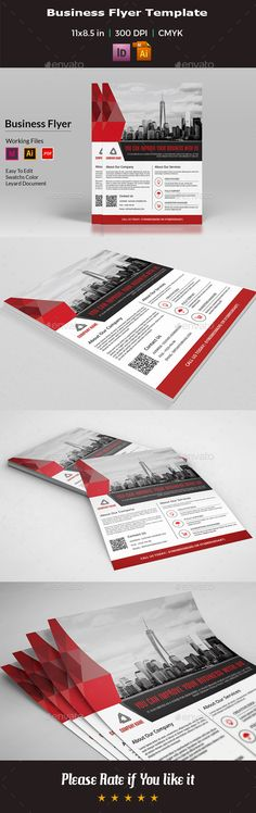 Business Flyer Template InDesign INDD, AI Illustrator
