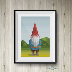 David el Gnomo arte poligonal | David the Gnome polygonal art