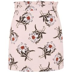 Topshop Daisy Print Mini Skirt (140 BRL) ❤ liked on Polyvore featuring skirts, mini skirts, topshop, pink, daisy skirt, frilly skirt, topshop skirts, short ruffle skirt and pink ruffle skirt
