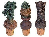 "Wine Cork / Tropical Set of 3 by KC Hawaii. $11.99. Set of three-tiki,palm tree & pineapple. Measurement - 4.125"" H. Poly Resin. Great convgersation piece when entertaining or give as a hostess gift when attending a Luau."