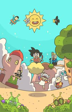 Gokú, welcome to Penguin Village. Dragon Ball, Phone 7, Young Justice, Justice League, Goku, Art Reference, Penguins, 2d, Art Drawings