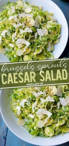 Give Brussels Sprouts Caesar Salad a try on Thanksgiving! This recipe will make everyone a believer in this veggie. Tossed with a simple, 4-ingredient lemon dressing and shaved Parmesan cheese, this salad will become a weekly dinner staple even picky eaters will enjoy!