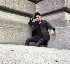 Joel en NY todo un modelo guapo
