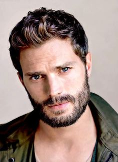 Jamie Dornan likes to separate himself from his Fifty Shades Darker character, BDSM practitioner Christian Grey. Best Short Haircuts, Haircuts For Men, Men's Haircuts, Dulcie Dornan, Cool Mustaches, Mustache Styles, Mr Grey, Hommes Sexy, Irish Men