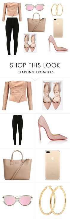 """Untitled #18"" by lineocarol on Polyvore featuring Balmain, Christian Louboutin and MANGO"