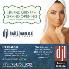 Join us for our Med Spa Grand Opening on Thursday, February 5, 2015 at 6:00 pm!