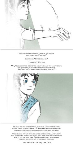 Will Herondale and Jem Carstairs meeting for the first time