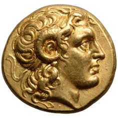 Ancient Greek Gold Stater Coin of Alexander the Great, 297 BC Ancient Rome, Ancient Greece, Ancient Greek Art, Gold And Silver Coins, Antique Coins, Gold Bullion, Alexander The Great, Great Paintings, World Coins