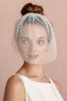 Dotted Voile Veil in Sale Just Added at BHLDN