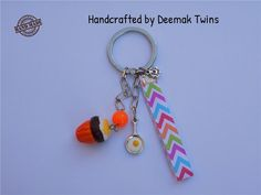 Cupcakes & Eggs Keychain by DeemakTwins on Etsy