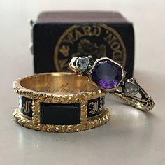 Oustanding rare 18th century Georgian mourning ring in amazing