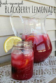 Fresh-Squeezed Blackberry Lemonade