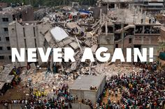 Our thoughts are with everyone affected by the tragic building collapse in Bangladesh. We can't let this happen again! Use your voice - let your favourite retailers know that as a customer you want to make sure the people who made your clothes are decently paid and working in safe conditions. And please REPIN to show your support. Ethical Shopping, Never Again, This Is Us, Let It Be, Thoughts, Make It Yourself, Shit Happens, Building, People