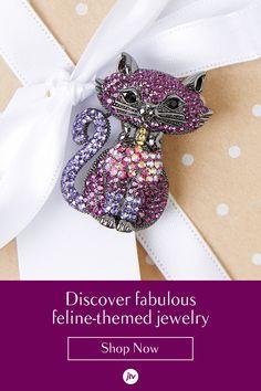 by JTV Cat Jewelry, Animal Jewelry, Wire Jewelry, Jewelry Art, Antique Jewelry, Jewelery, Vintage Jewelry, Beaded Jewelry Patterns, Paparazzi Jewelry