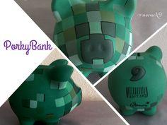 Ahorra para la aventura con tu #Minicraft Alcancía pintada a mano. Hand painted Ceramic #PorkyBank Personalized By @neack9 #HechoEnMexico #Sandbox