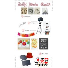 DIY Photo Booth by hopefulsmiles, via Polyvore