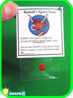 Rudolf's Spare Nose SWAP Kit for Girl Scouts from Swaps4Less