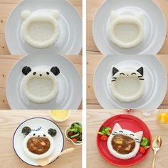 Laughing Animals Curry Rice Mold Set – Bento&co food recipe lunch ideas Laughing Animals Curry Rice Mold Set Cute Food, Good Food, Yummy Food, Bento Recipes, Cooking Recipes, Cooking Tips, Bento Kids, Bento Box Lunch For Kids, Bento Food