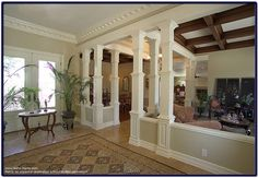 Wood Pillars - Enhancing the interior of your home/Pictures