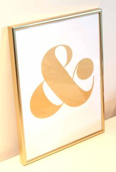 oh yes....we have a new color!!!  Ampersand Screen Print  Metallic Gold on White by shopampersand, $22.00
