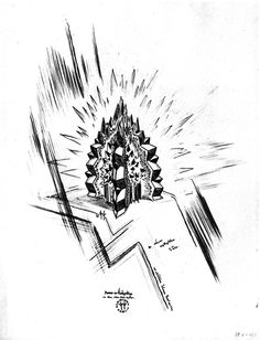 Wenzel Hablik, Museum in the Mountains, 1920  #architecture #drawing Pinned by www.modlar.com