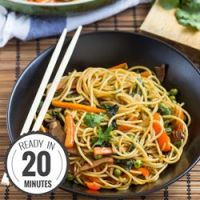 Delicious Fake Lo Mein (20 Min, Vegan)