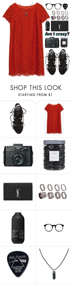 """Wonderwall// Oasis"" by blood-under-the-skin ❤ liked on Polyvore featuring Rebecca Minkoff, Zara, Holga, Threshold, Yves Saint Laurent, ASOS, Living Proof and Floyd"