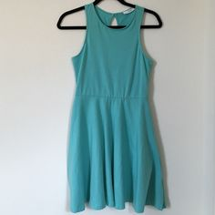Lush dress Size S Lush sea foam blue in Small. Has one button in back neck for wear. Form fit top and flowy bottom. Cute as casual or can dress it up for a night out! NET from Nordstroms. Lush Dresses
