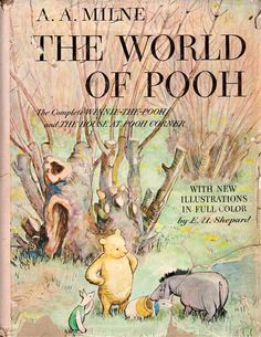 1957 The World of Pooh, A. Milne - Complete Winnie the / House at Pooh Corner Vintage Winnie The Pooh, Winnie The Pooh Quotes, Winnie The Pooh Friends, I Love Books, Good Books, Books To Read, My Books, House At Pooh Corner, Christopher Robin