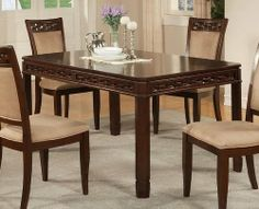 Furniture dining room furniture on pinterest cherry for Dining room table 40 x 60