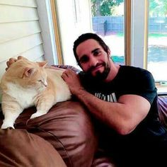 Wwe Seth Rollins, National Cat Day, Wwe World, Wrestling, Cats, Animals, Fictional Characters, Happy, Black