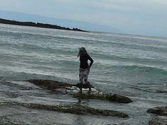 Beautiful waves on Sawarna beach