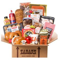 Zabar's Is New York BoxZabar's, New York City's mainstay on the Upper West Side, supplies the highest-quality fish, meats, gourmet treats, and baked goods. This box is stocked with tons of goodies, including fresh bagels, sourdough rye bread, Kosher beef salami, mini potato knishes, Amaretti di Saronno cookies, chocolate babka, cinnamon rugelach, a box of Chris' I love New York cookies, Betsy's Place chocolate chip cookies, and pound of fresh-roasted Zabar's ground coffee. (zabars.com, $239)…