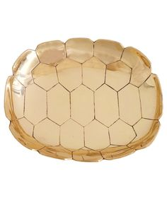 Turtle Shell Brass Tray