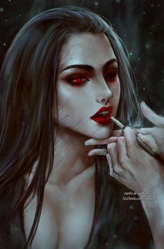 Fantasy Girl Art and Visit the link to watch Full Female Vampire, Vampire Girls, Vampire Art, Dark Fantasy Art, Fantasy Girl, Dark Art, Arte Horror, Horror Art, Character Inspiration