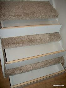 How to put storage drawers in your basement stairs